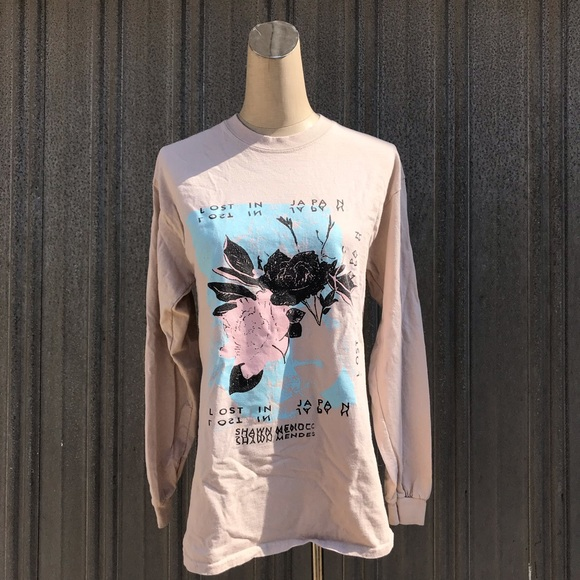 0a59ff854 Authentic Shawn mendes floral long sleeve
